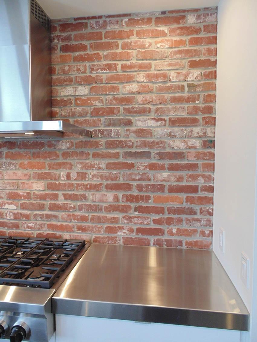 St Louis antique thin brick kitchen