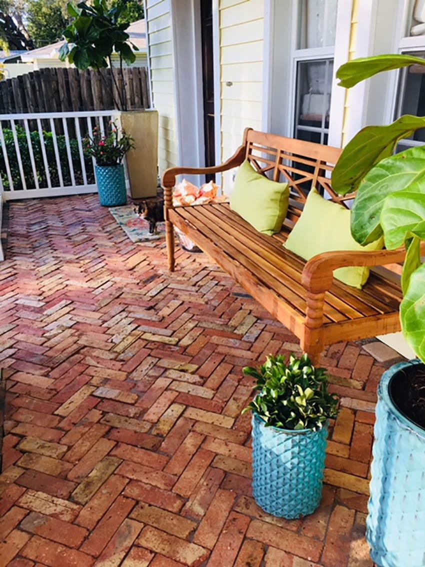 Chicago reclaimed queen brick patio