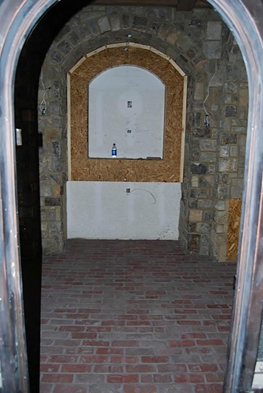 Reclaimed Street Paver thin brick floor