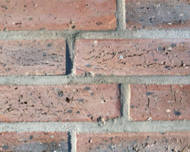 """Sawn Faced """"Fossilcut"""" Chicago Brick Tile Sample Textured Rose Salmon"""
