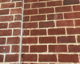 Fossilcut™ Reclaimed Street Paver Sawn Face Tile Wall Red Brick White Flecks
