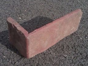 Reclaimed Midwest Street Paver thin brick corner pieces