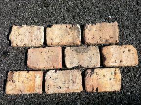 Chicago Antique Thin Brick Veneer, End Piece Textured Vintage