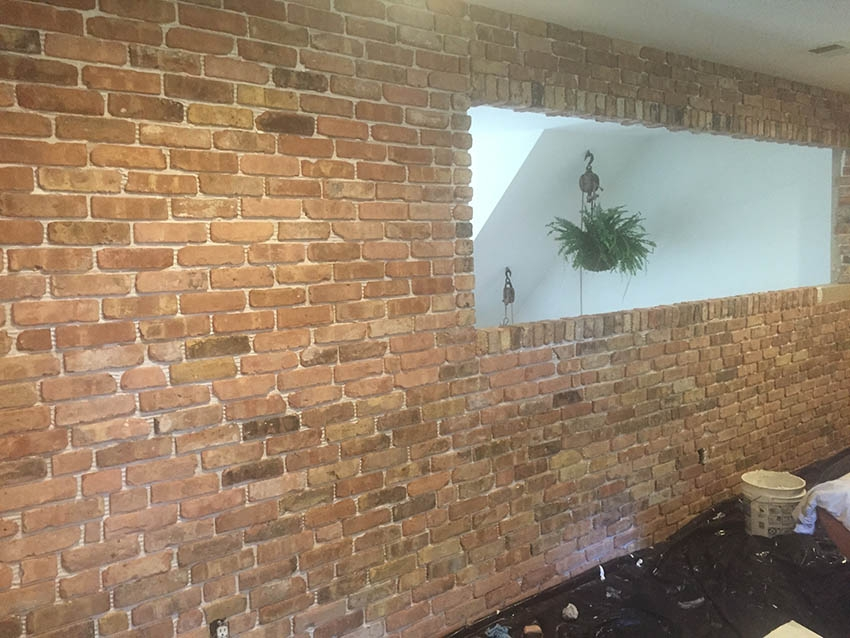 Chicago antique thin brick veneer wall